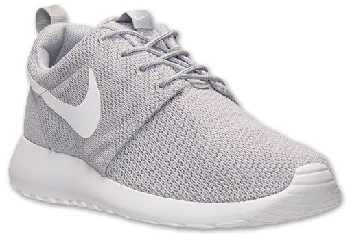 roshe runs grey and white